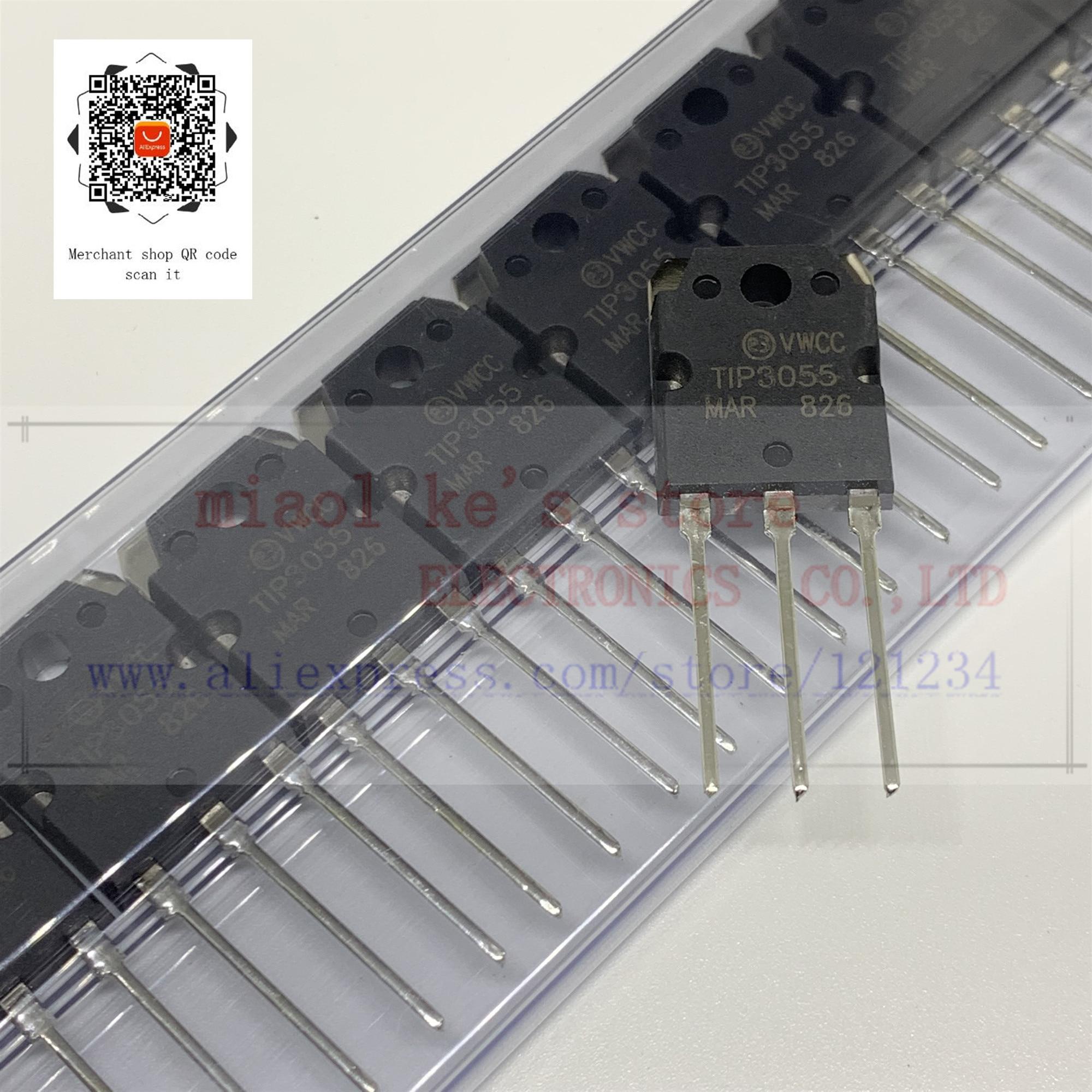 [5pcs/1lot]100%New Original;  TIP3055 TIP 3055 - TRANS NPN 60V 15A TO-247
