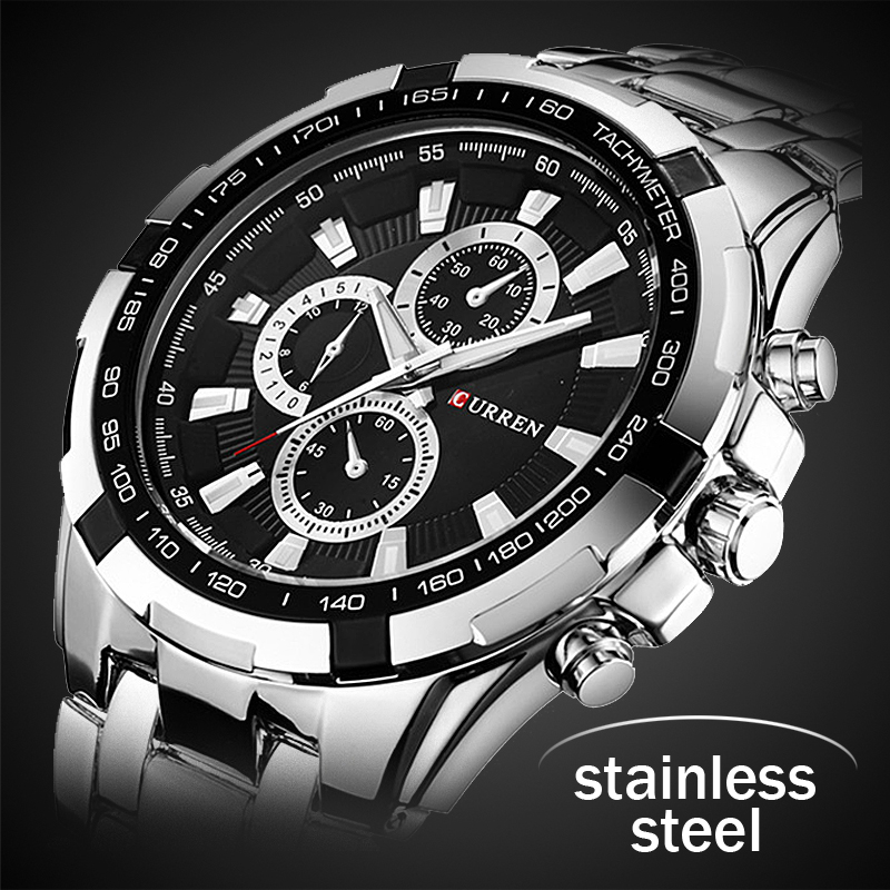 купить 2018 New Curren Luxury Brand Watches Men Quartz Fashion Casual Male Sports Watch Full Steel Military Watches Relogio Masculino по цене 918.65 рублей