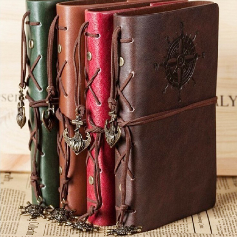 2019 Spiral Notebook Diary Notepad Vintage Pirate Anchors PU Leather Note Book Replaceable Stationery Gift Traveler Journal2019 Spiral Notebook Diary Notepad Vintage Pirate Anchors PU Leather Note Book Replaceable Stationery Gift Traveler Journal