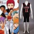 Seirin баскетбольная одинаково черным № 11 Kuroko нет Basuke 2 аниме косплей костюм для kurokos корзина