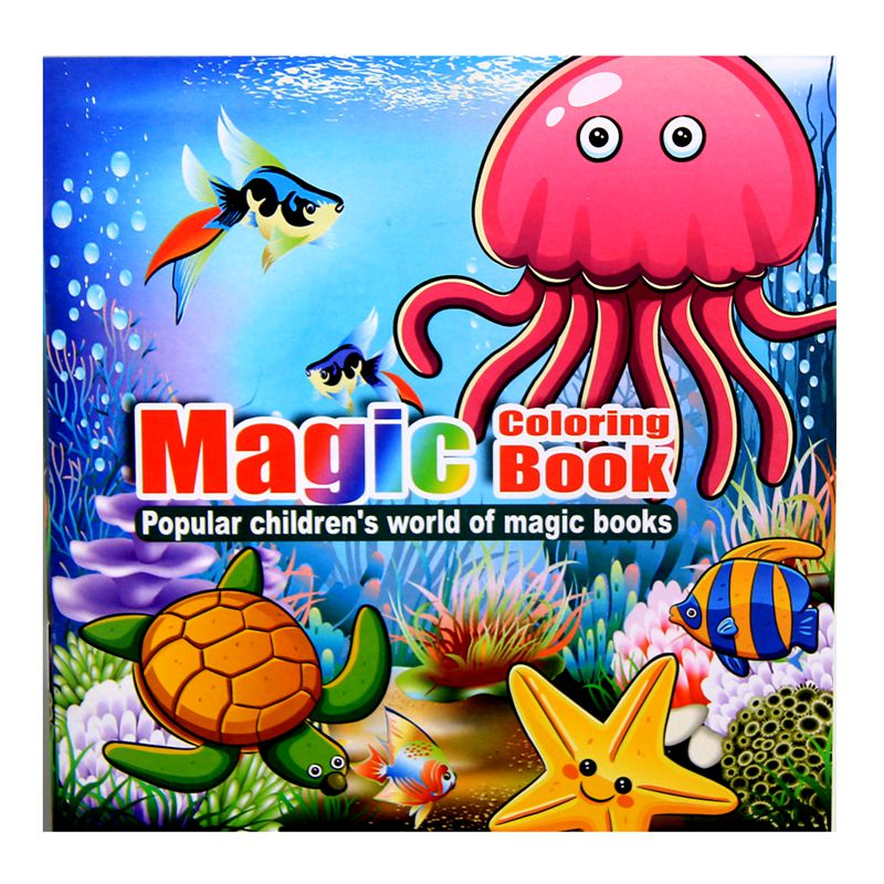 Marine Animal Cartoon Puzzle Book Coloring Children's Intelligence Development Parent-child Interaction Interest Cultivation