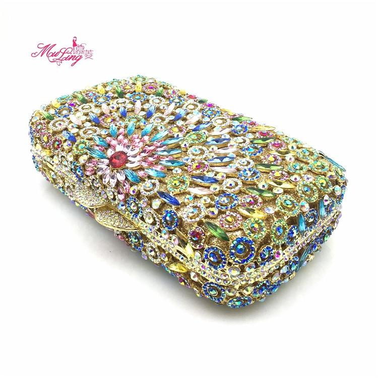 2017 Nuovo sacchetto del Pranzo di Alta Qualità Delle Signore sacchetto di mano con il Diamante inserto banchetto del vestito singolo sacchetto di spalla skew satchel sostituto - 4