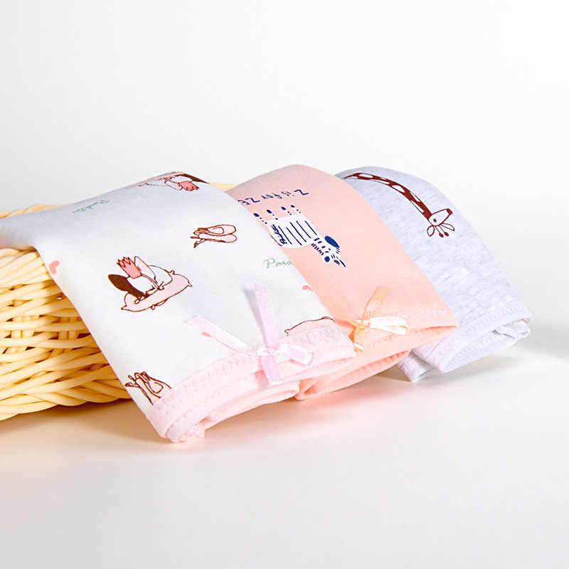 3 قطعة/الوحدة الطفل سراويل للفتيات الكرتون الأرنب الملاكم السراويل لينة القطن سراويل الأطفال لطيف الغزلان طباعة ملخصات طفل الملابس الداخلية