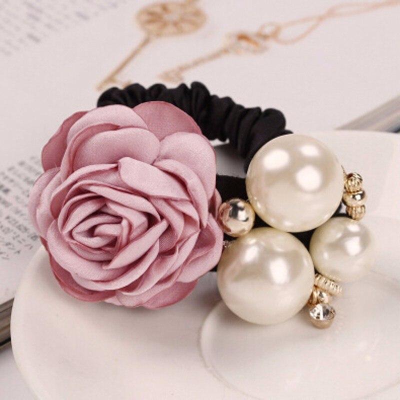 1Pc Fashion Hair Accessories Pearl Women Ladies Hair Headband Rose Hot Ponytail