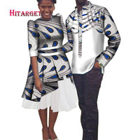 African Couple Clothing Men's Shirt+dashiki African Dresses for Couple African Clothes for Couple Party Wedding Dresses WYQ186
