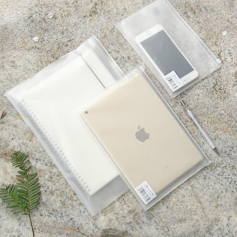 B5 B6 A4 PVC Presentation Binder Folder Zipper Receive Bag Concise Planner's Filing Products Card Holder Bag