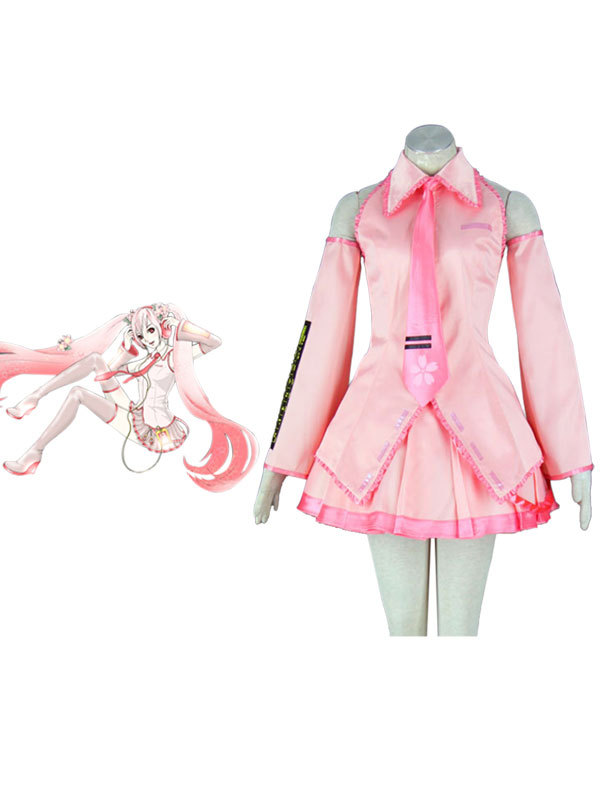 Free Shipping Vocaloid Sakura Hatsune Miku Cosplay Costumes