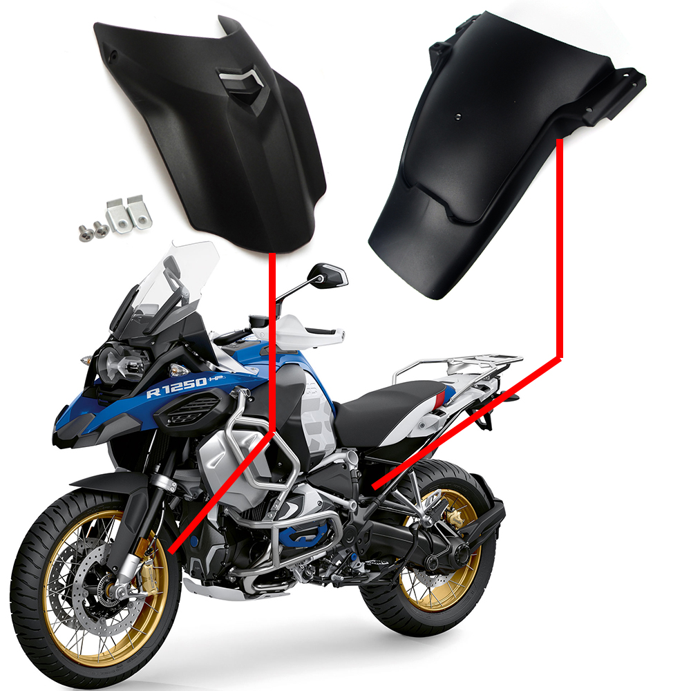 Un Ensemble Pour BMW GS R1250GS R1250 LC adv 2019 Moto fender Garde-Boue extension Splash Garde Tire Hugger Pièces Accessoires