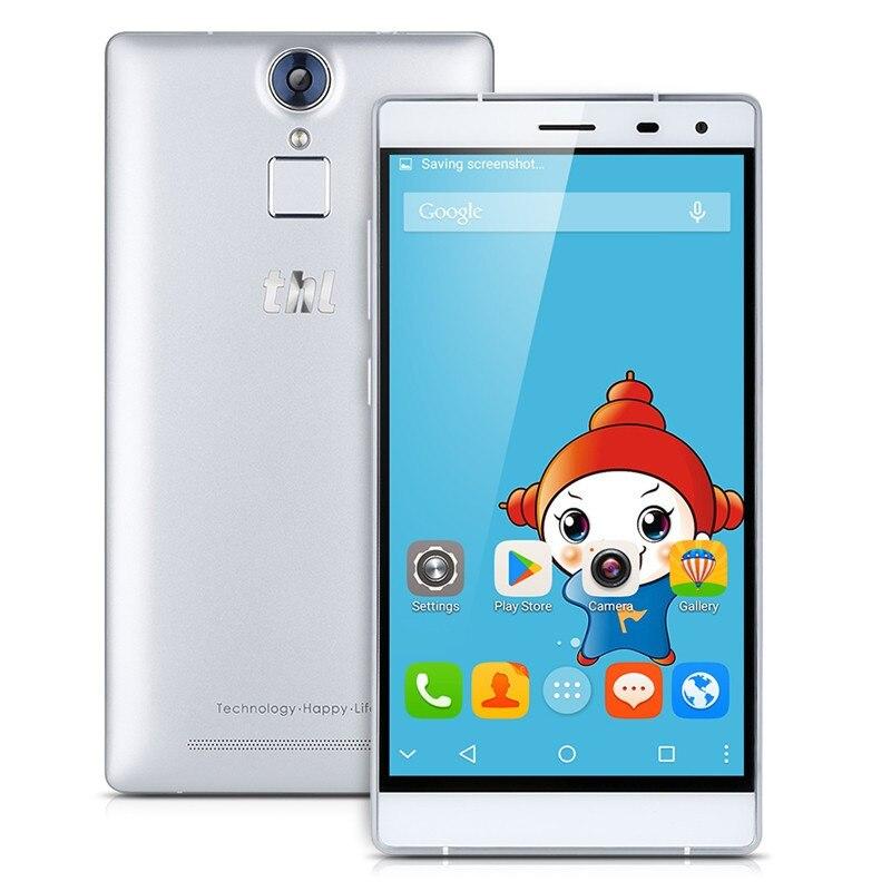 Original THL T7 5.5 inch HD 4G LTE 64bit MTK6753 Octa Core Android 5.1 3GB RAM 16GB ROM <font><b>13MP</b></font> Fingerprint ID 4800mAh <font><b>Smartphone</b></font>