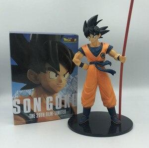 Image 2 - Dragon Ball Z Goku 50. Rocznica Ruyi stoi Ver. Figurka DBZ pamiątkowe kufry Vegeta model super saiyan 28cm