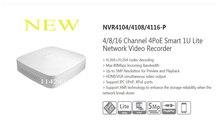 Livraison Gratuite DAHUA 4ch/8ch/16ch Intelligent 1U POE NVR DAHUA Mini NVR sans Logo NVR4104-P/NVR4108-P/NVR4116-P