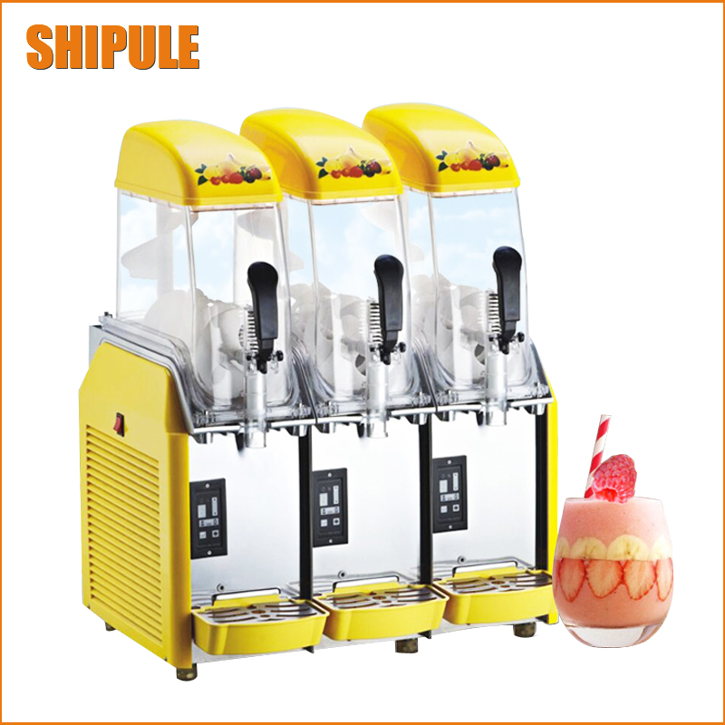 Three cylinder Slush machine 12L*3 Snow melt machine Smoothie machine 220V Snow grains Slush dispenser Smoothie maker