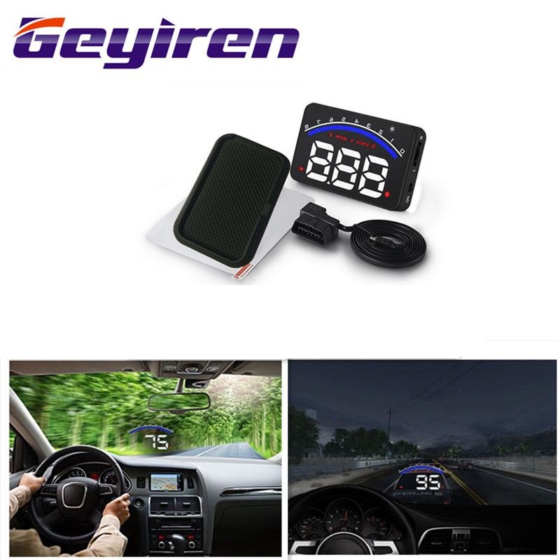 Geyiren 3.5'' Screen HUD Car OBD II HUD Head Up Display M6 Car Display Water Temperature Auto Electronic Voltage Alarm DC12V Hud