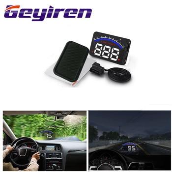 цена на Geyiren 3.5'' Screen HUD Car OBD II HUD Head Up Display M6 Car Display Water Temperature Auto Electronic Voltage Alarm DC12V Hud