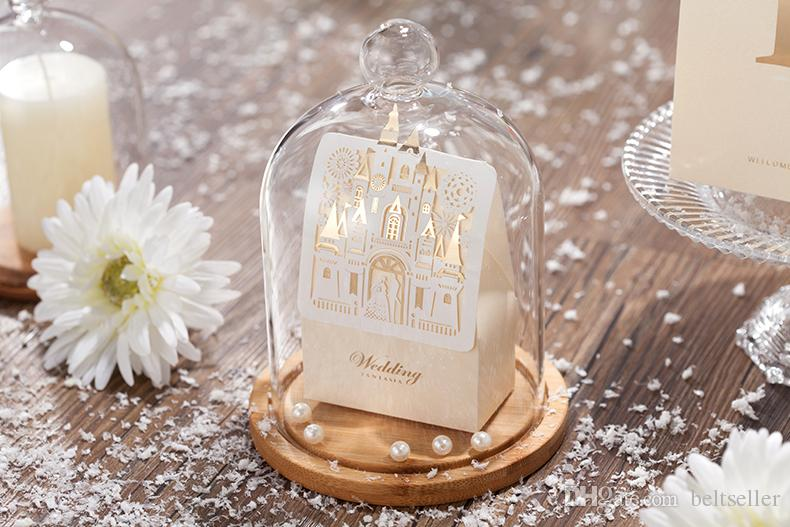 Laser Cut Hollow Wedding Favors Candy Box Castle Sweet Chocolates Bo For Party Baby Shower Favor Gifts 50pcs Lot In Gift Bags Wring