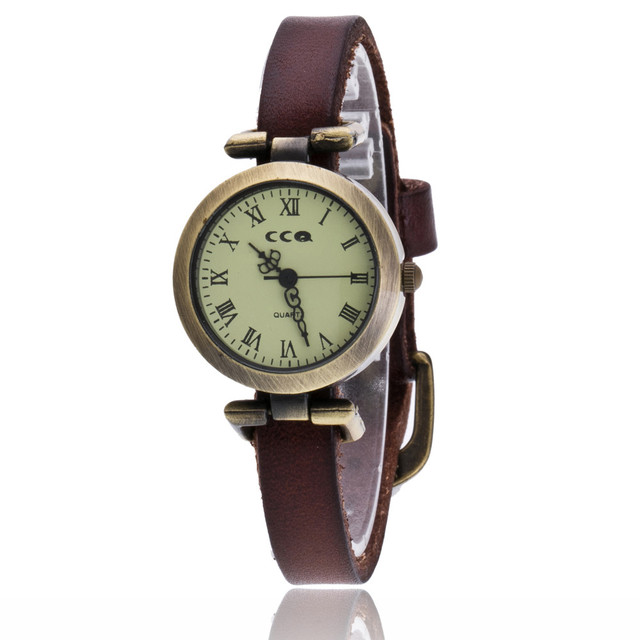 Fashion Roma Vintage Cow Leather Bracelet Watches Casual Women WristWatch Luxury