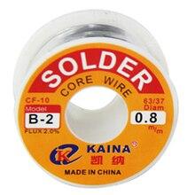 Маха Горячие Kaina 63/37 оловянный припой сварки Железная проволока привести 0.8 мм 2% Розин флюсом катушка 100 г
