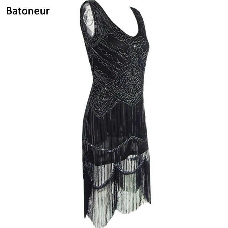 Retro Vintage Dresses Fringed Dress Hem