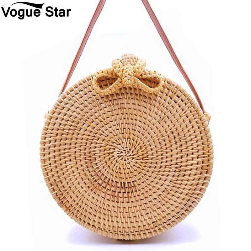 БАЛИЙСКАЯ женская сумка ручной работы, круглая соломенная сумка из ротанга, богемная пляжная круглая сумка, круговая сумка, сумки через плечо LB968