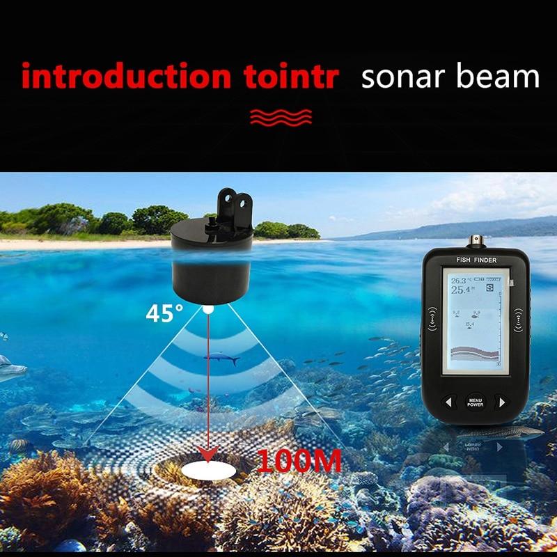 Xf02 45 graus portátil com fio sonar