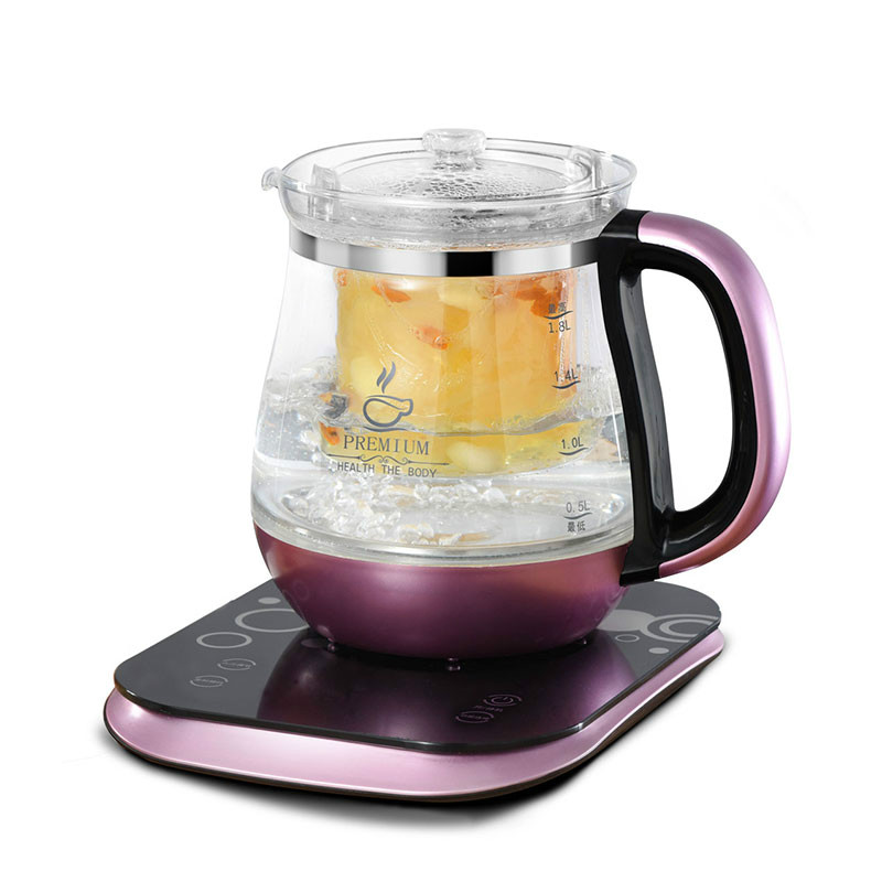 Electric kettle The health raising pot is fully automatic and thickened glass multi-function electric heating black tea health raising pot fully automatic thickened glass multi function tea ware mini body electric heating kettle ware