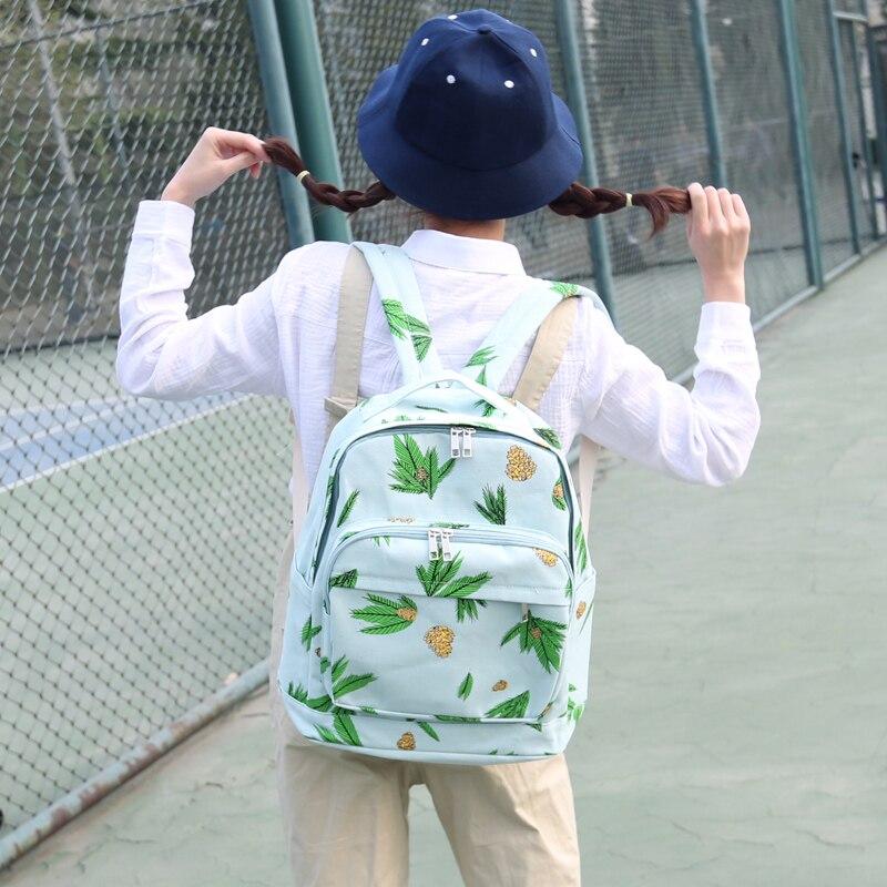 ФОТО New 2016 Middle School Girl Backpack Bagpack Canvas Women Travel Bags Floral Backpacks Girl Kawaii Bagpack Cute Kids School Bags