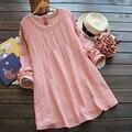 Otoño Primavera de Algodón de Lino Sueltos Vestidos de Maternidad para Las Mujeres Embarazadas, Más Tamaño Ocasional Vestido de Embarazo, Maternidad Ropa M-XXL