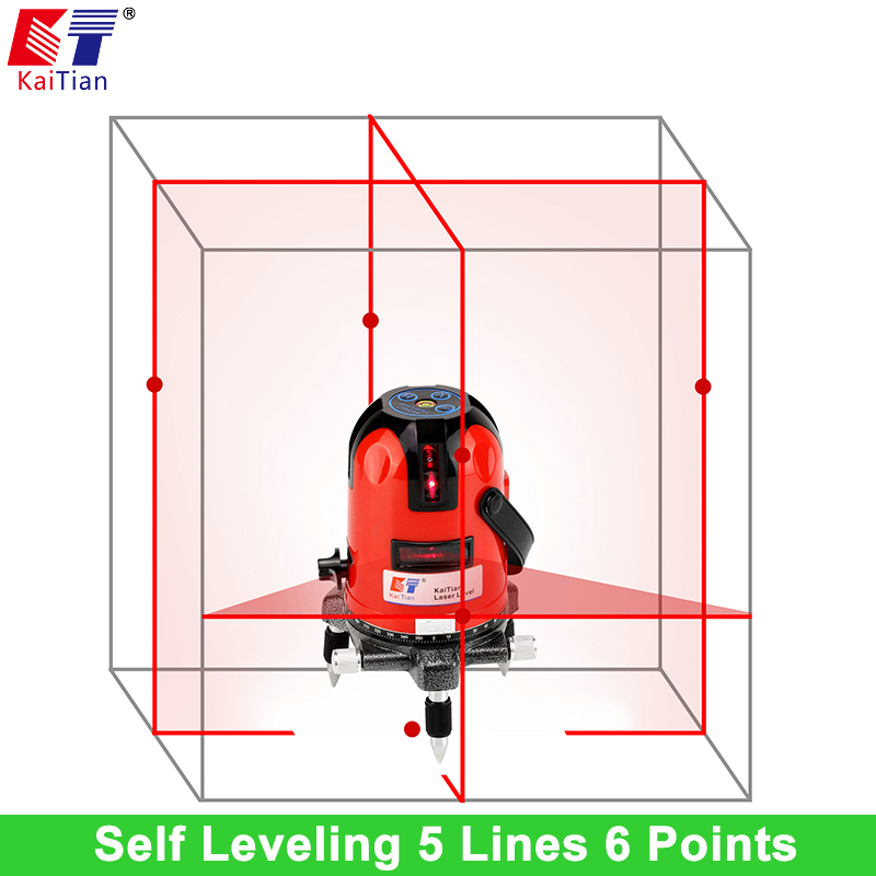 KaiTian Laser Level 5 Lines Professional Laser  635nm Slash Function Rotary Self Leveling  with Receiver Horizontal Lasers Level solar borehole pumps irrigation water pump reorder rate up to 80% pool pump solar powered