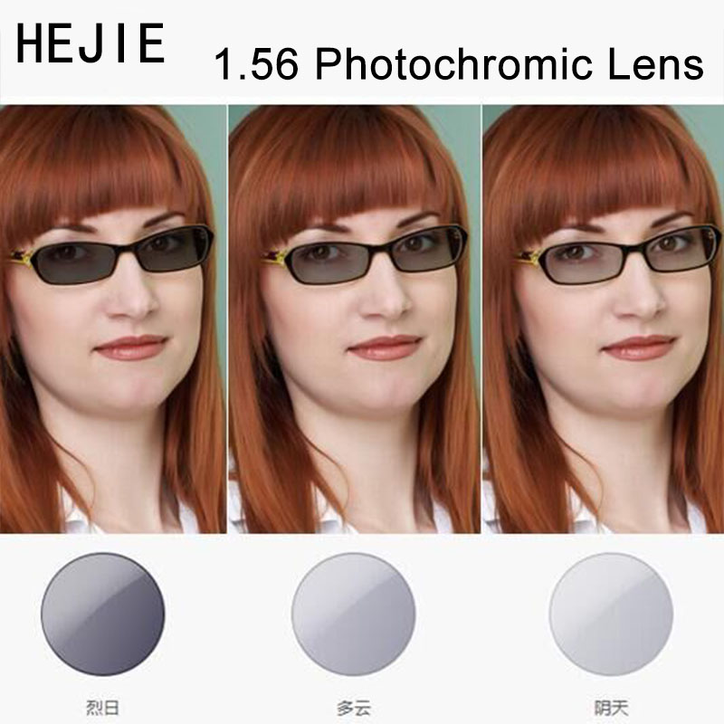 Factory Customized 1.56 NK-55 Photochromic Gray Brown Optical Lenses For Myopia Hyperopia Reading Sunglases Diameter 70-75mm