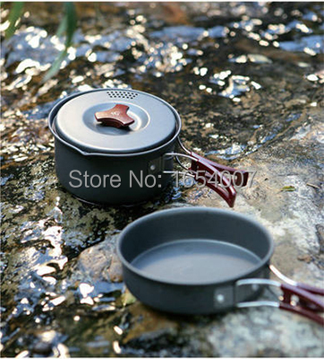 1-2 Persons Set Be Cocina Frying Pan/Pannikin  Fire Maple FMC-203 Camping Pot Sets Camp Cooking Cookware Picnic Outdoor Cutlery 2017 new fire maple 2 3 persons outdoor cutlery pot set camp cooking cookware portable outdoor camping tablewares fmc 208 448g