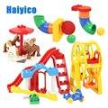 Große Partikel Montage Zubehör Set Bausteine DIY Spielzeug Kreativität Kompatibel mit Duplo freizeitpark Spielplatz