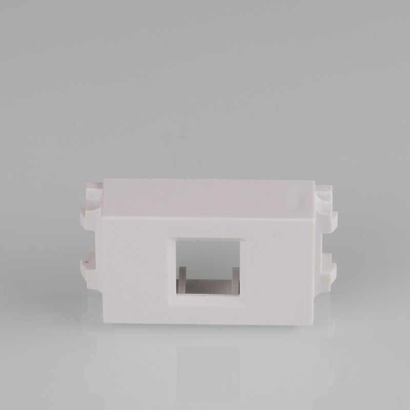 """1 יחידה לבן צבע 23x36 מ""""מ ריק Spacer עם Keystone חור עבור RJ45 רשת RJ11 טלפון תקע רכיב"""