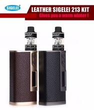 100% Unique Digital Cigarette vape mod LEATHER Sigelei 213 Package