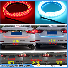 Car trunk box light Dual color Flow type drl light with Side Turn Signals Rear lights LEDs Strips Braking light decoration lamp