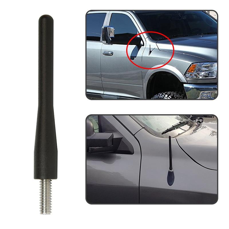 Ram Antenna for Dodge RAM 1500 2500 3500 Truck 3 Short Car Antenna Replacement 2009-2017 Black