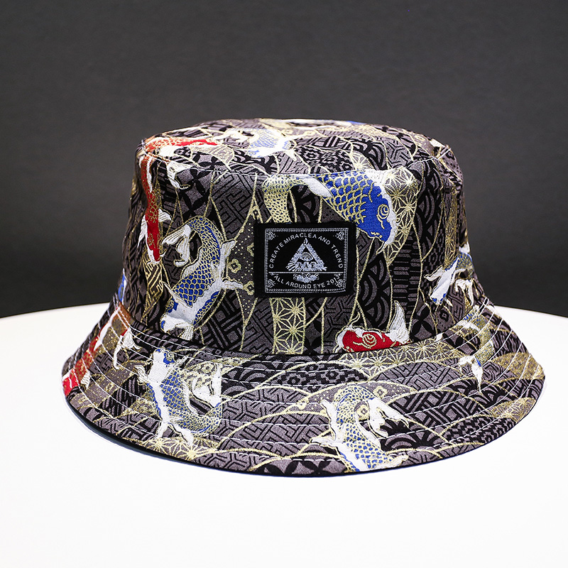 6464f7f2a Soft Bucket Hat Man Women Outdoor Sports Hip Hop Cap Floral Double Side  Summer Cotton Fishing Sun Hat Panama For Newest Hats -in Bucket Hats from  Apparel ...