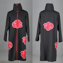 High Quality Japan Anime Naruto Cosplay Costumes Naruto Akatsuki Uchiha Itachi Cosplay Costume Cloak Hooded Clothes Plus Size