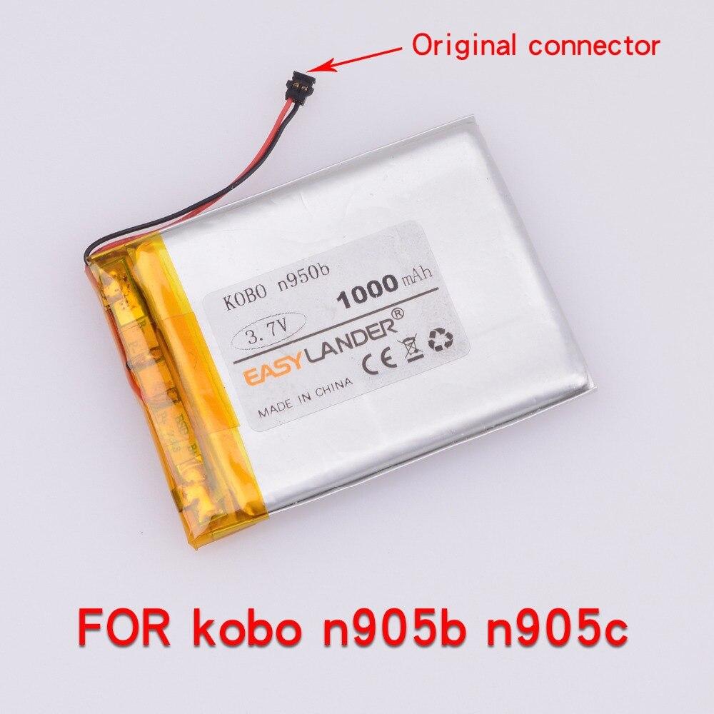 3.7V 1000mAh Rechargeable Li Polymer Li-ion Battery For Mp4 PAD DIY Bluetooth Kobo N905b,kobo N905,kobo N905c