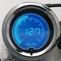 """IZTOSS 2 """"7 Colores Azul Rojo LED Digital Volt Metro Del Voltaje Del Coche Auto Gauge 52mm Tint Len"""