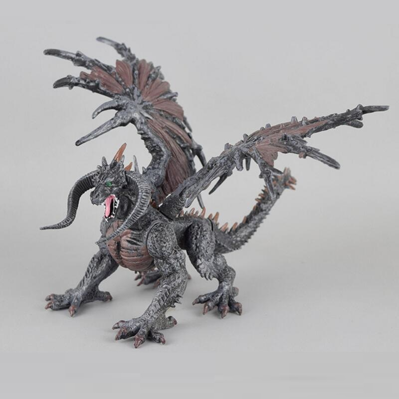 1pcs DIY tiamat toy dragons with wings classic toys for boys children dinosaur action figures without retail box acrocanthosaurus dinosaur toy model classic toys for boys children gift 302329