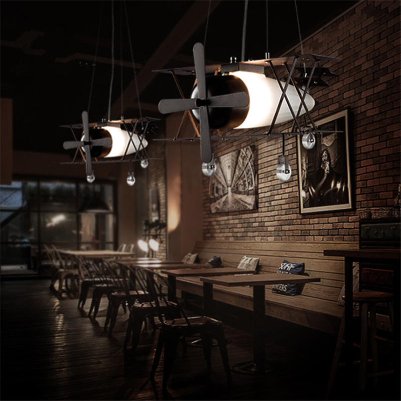 2017 New Kids Room Decoration  Air Plane Pendant Light Simple Style Cute Kid's Bedroom Light / Cafe / BAR Lights Free Shipping new phoenix 11207 b777 300er pk gii 1 400 skyteam aviation indonesia commercial jetliners plane model hobby