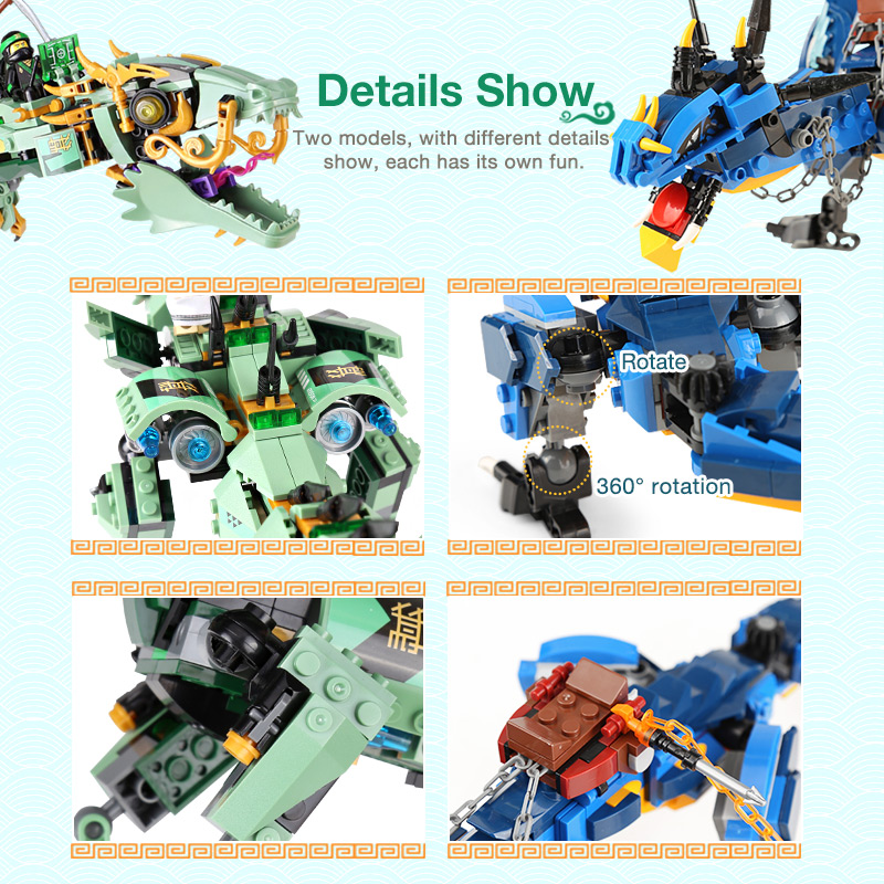 Film Serie Fliegen mecha drachen Bausteine Ziegel Spielzeug Kinder 06080 Stormbringer Geschenke Mit LegoINGly 70652 NinjagoINGly