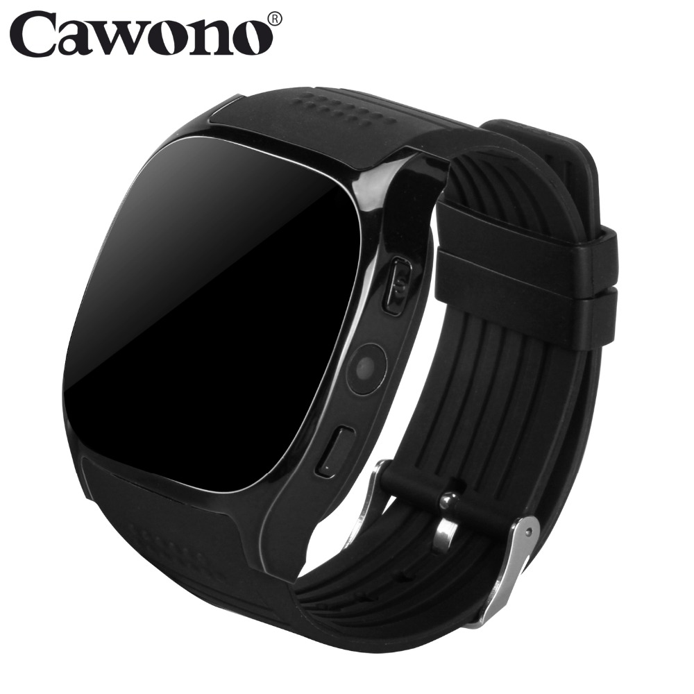 Cawono T8 Bluetooth Smart Watch Support SIM TF Card With Camera Sports Wristwatch Music Player for Apple Android VS M26 DZ09 A1
