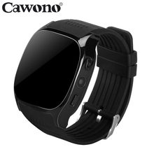 Cawono T8 Bluetooth Smart Watch Support SIM TF Card With Camera Sports Wristwatch Music Player for Apple Android VS M26 DZ09 A1(China)