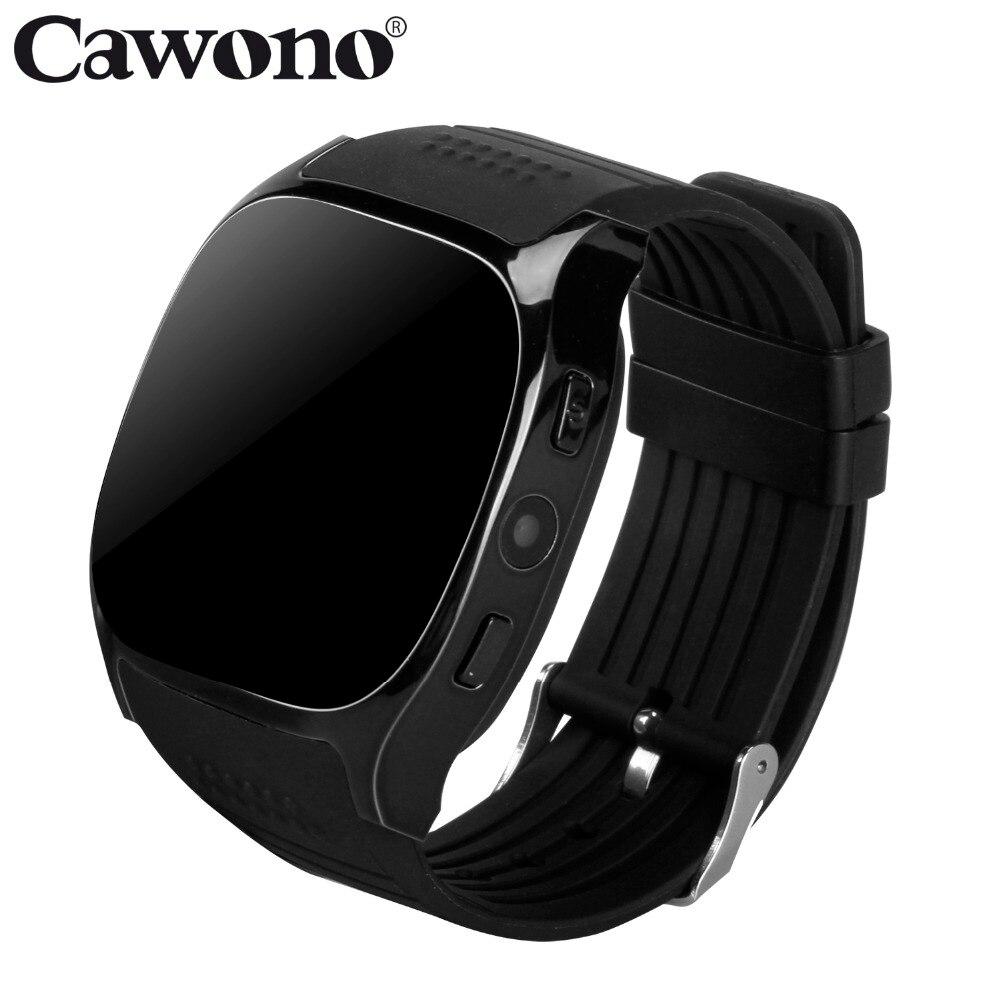 Cawono T8 inteligente reloj Bluetooth soporte tarjeta SIM TF con cámara reloj de pulsera deportivo reproductor de música para Android de Apple del M26 DZ09 A1