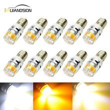 2W E10 Led Bulb COB LED Lamp Yellow/4300K /White Warning Signal 3V 6v 12V Small Light Bulbs Physical Experiment Indicator