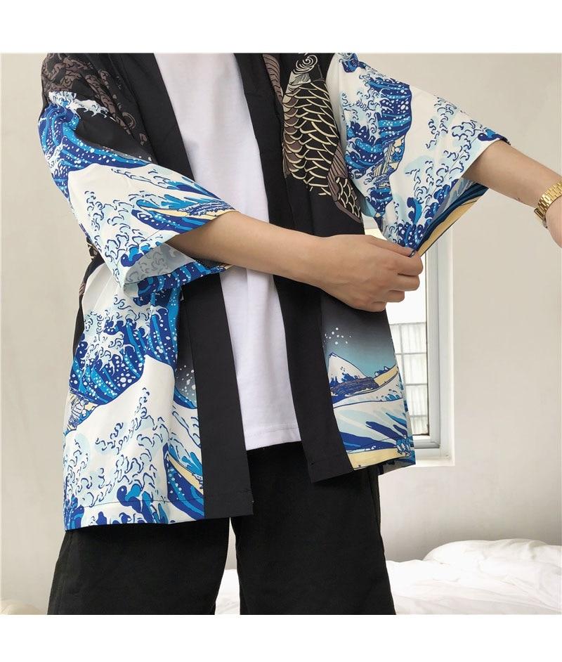 HTB1 yWuHFGWBuNjy0Fbq6z4sXXaR Zongke Japanese Kimono Cardigan Men Wave and Carp Print Long Kimono Cardigan Men Thin Mens Kimono Cardigan Jacket Coat 2018