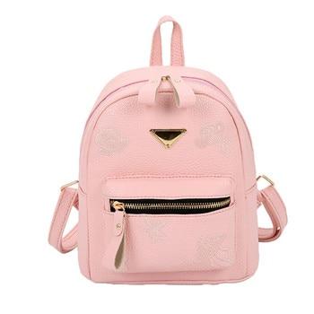 Women Mini Backpack Female Leather Embroidery School Travel Small Backpack Satchel Shoulder Rucksack Backpacks Trip Bag#23 tote bags for work
