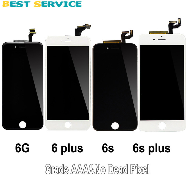 check out 4fc9c f074f US $16.2 |No Dead Pixel For iPhone 6 6s 6 plus 7 LCD Screen Display Touch  Screen Digitizer Assembly Black White for iphone6 for iphone7-in Mobile ...