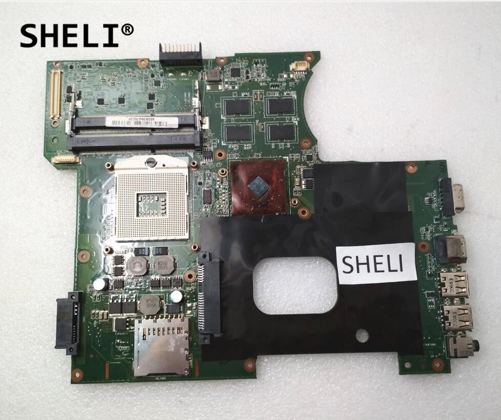 SHELI For ASUS K42JR K42J K42JZ K42JB K42JY Motherboard HM55 Mainboard DDR3 HD6470